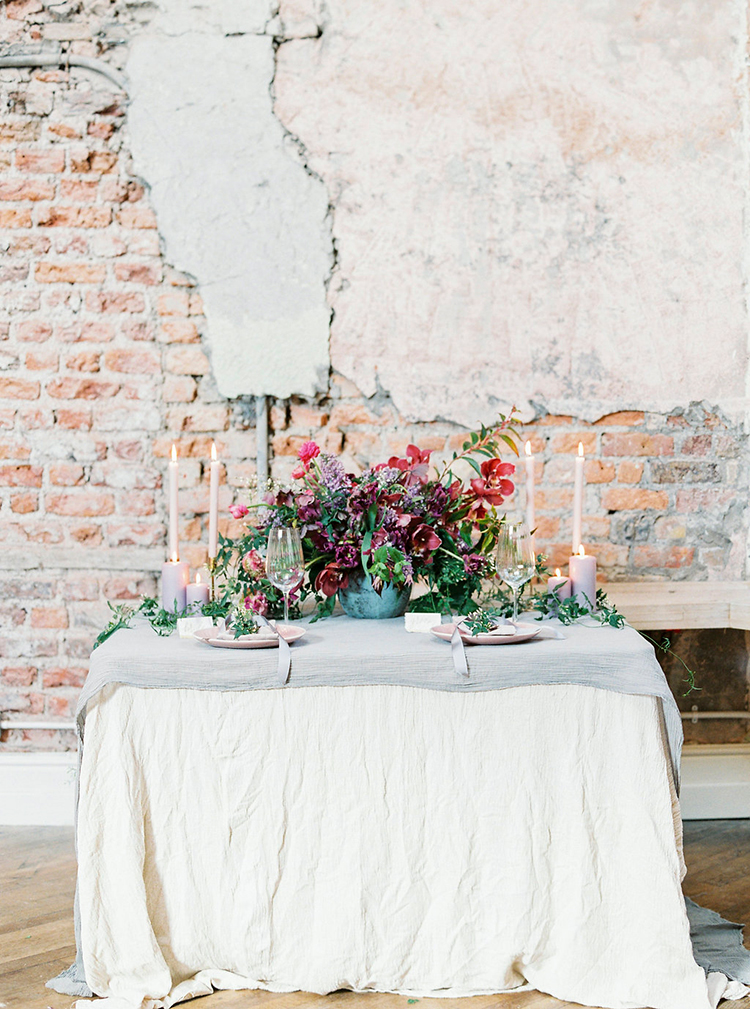 Industrial Wedding Shoot in Dublin with Serious Romantic Vibes - photo by Studio Brown http://ruffledblog.com/industrial-wedding-shoot-in-dublin-with-serious-romantic-vibes