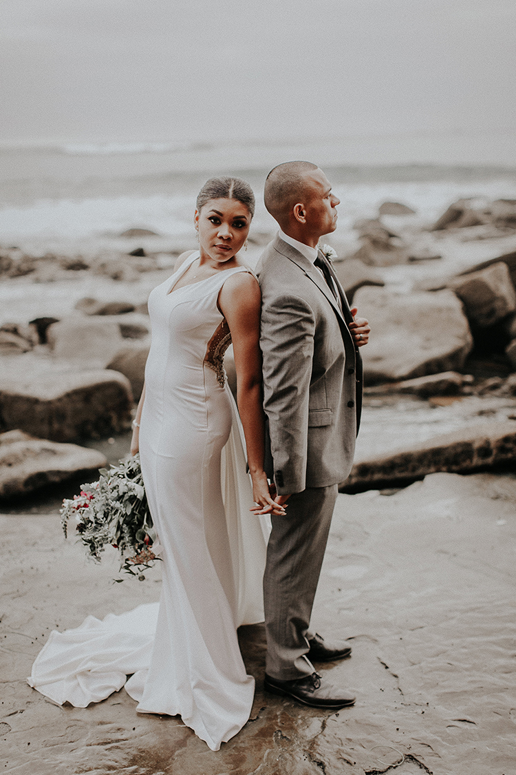 chic modern bridal looks - http://ruffledblog.com/intimate-modern-romantic-wedding-celebration-the-ceremony