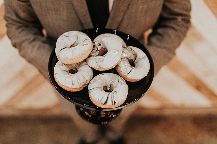 marbled donuts - http://ruffledblog.com/intimate-modern-romantic-wedding-celebration-the-reception