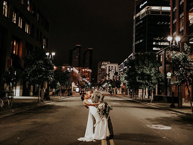 San Diego city weddings - http://ruffledblog.com/intimate-modern-romantic-wedding-celebration-the-reception