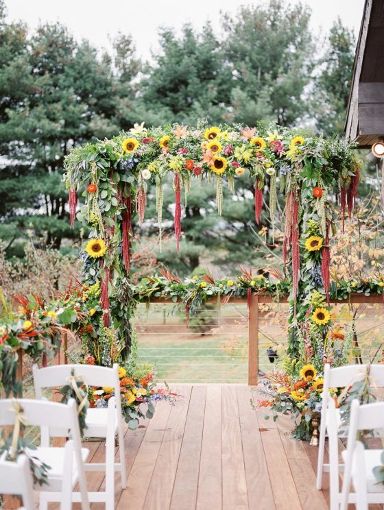 Intimate Sunflower Wedding at a Pennsylvania Family Estate