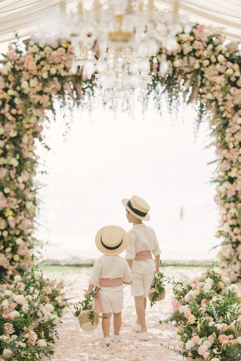 Intimate Thailand Wedding Pastel Garden 01