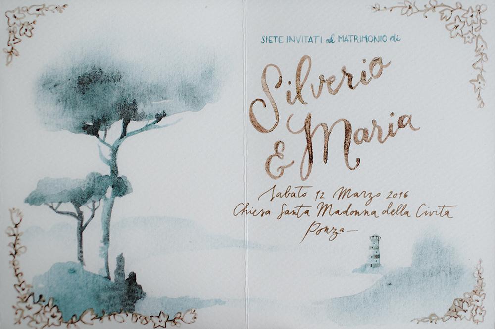 wedding paper goods - photo by Monica Leggio https://ruffledblog.com/italian-island-elopement-inspiration