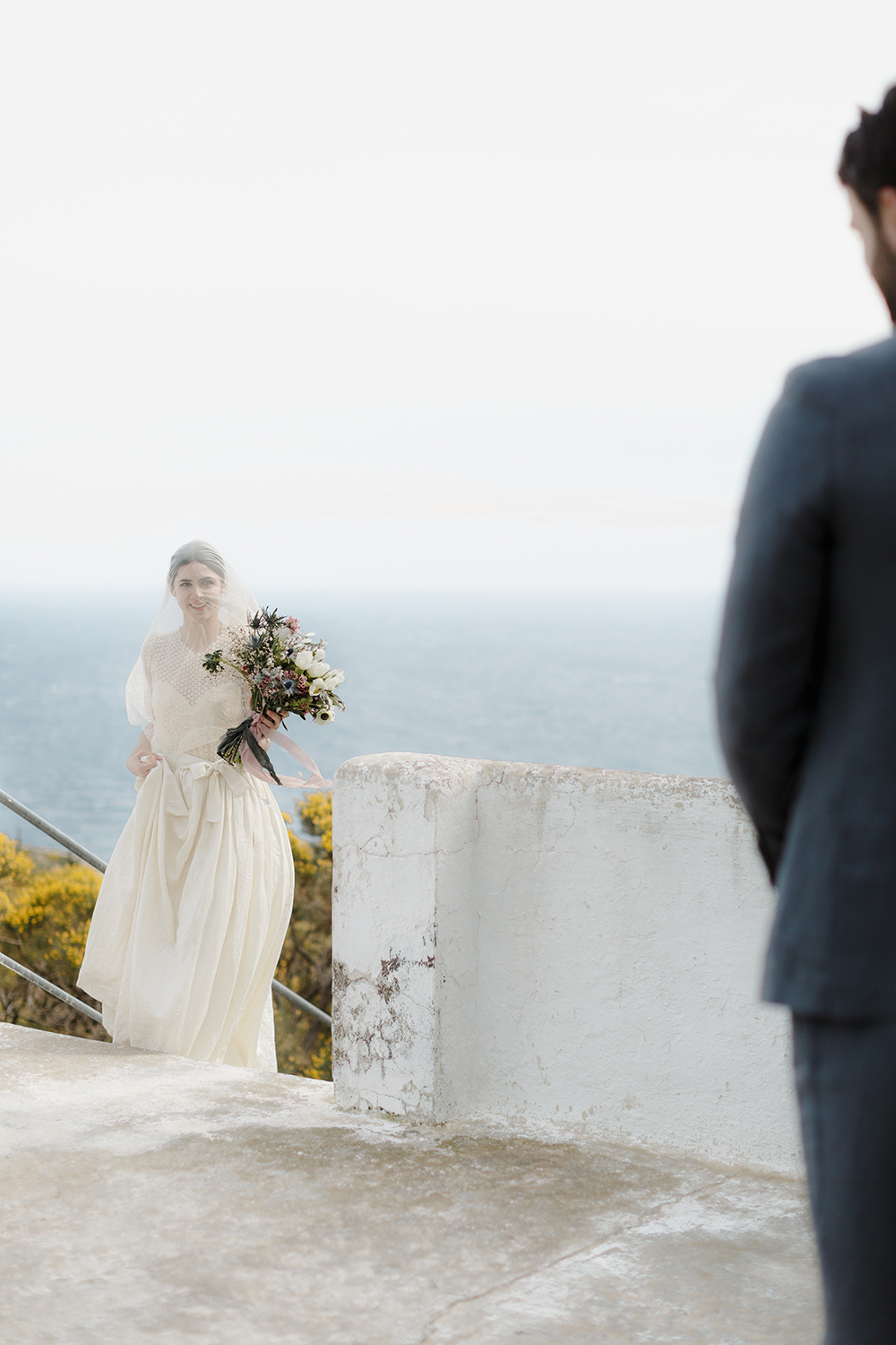 elopement - photo by Monica Leggio https://ruffledblog.com/italian-island-elopement-inspiration