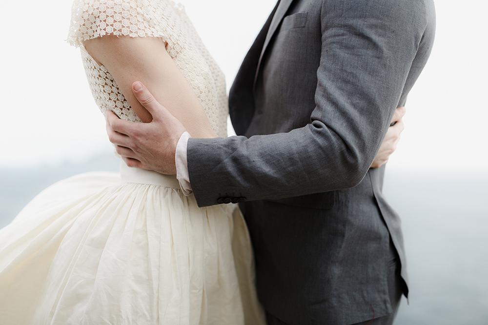 wedding style - photo by Monica Leggio https://ruffledblog.com/italian-island-elopement-inspiration