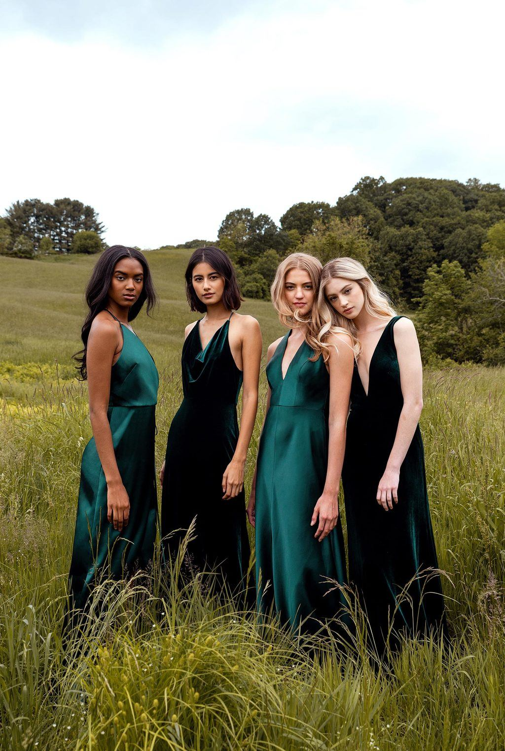 sophisticated emerald bridesmaid dresses