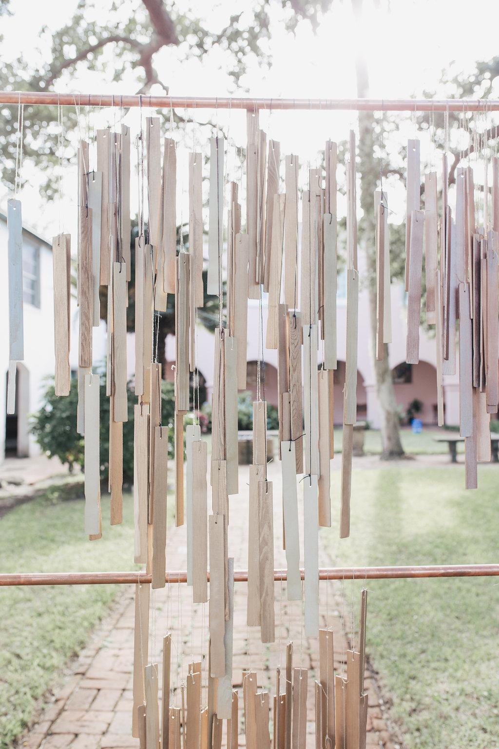 paint stick backdrops - photo by Alondra Vega Photography https://ruffledblog.com/jewel-toned-wedding-ideas-with-a-surprise-proposal
