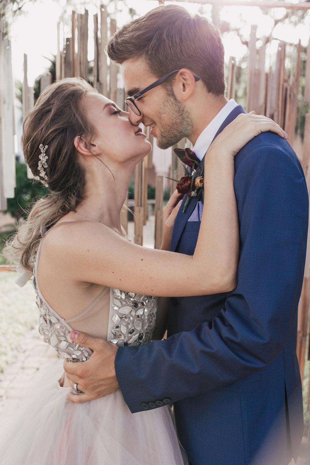 romantic wedding photography - photo by Alondra Vega Photography https://ruffledblog.com/jewel-toned-wedding-ideas-with-a-surprise-proposal