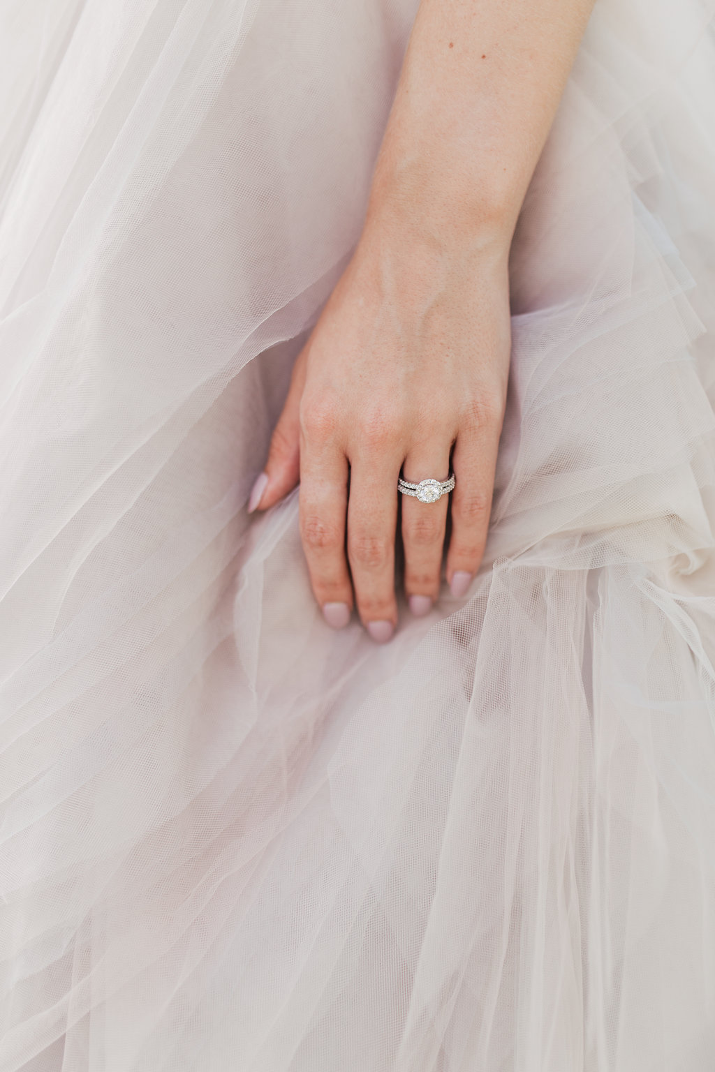 round engagement rings - photo by Alondra Vega Photography http://ruffledblog.com/jewel-toned-wedding-ideas-with-a-surprise-proposal