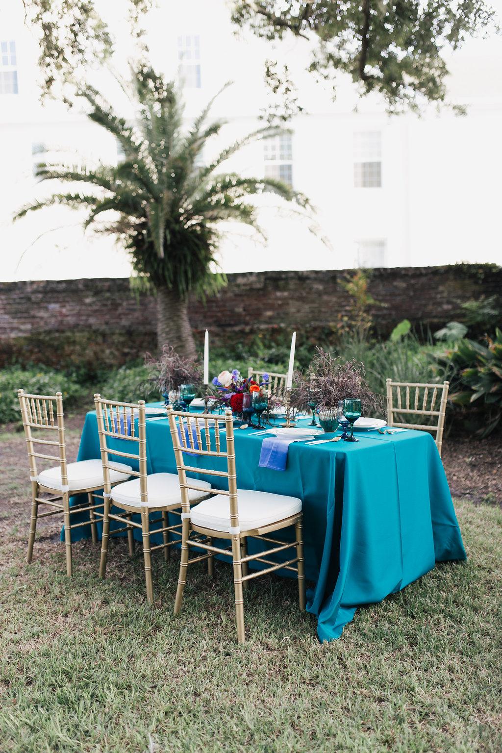 tropical inspired weddings - photo by Alondra Vega Photography http://ruffledblog.com/jewel-toned-wedding-ideas-with-a-surprise-proposal