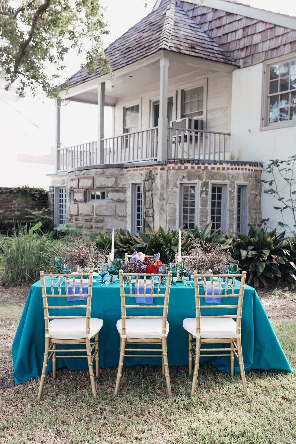 romantic southern wedding inspiration - photo by Alondra Vega Photography http://ruffledblog.com/jewel-toned-wedding-ideas-with-a-surprise-proposal
