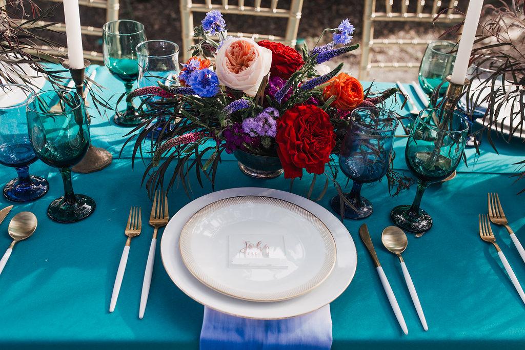 jewel toned weddings - photo by Alondra Vega Photography http://ruffledblog.com/jewel-toned-wedding-ideas-with-a-surprise-proposal