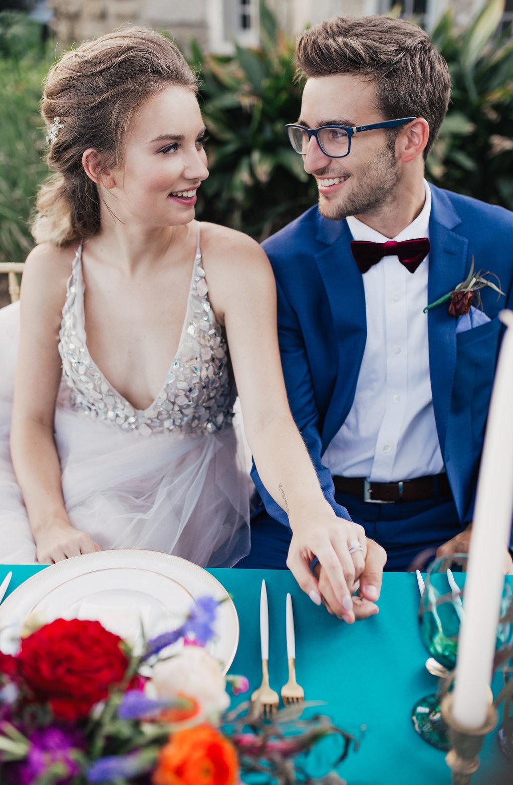 jewel toned wedding ideas - photo by Alondra Vega Photography http://ruffledblog.com/jewel-toned-wedding-ideas-with-a-surprise-proposal