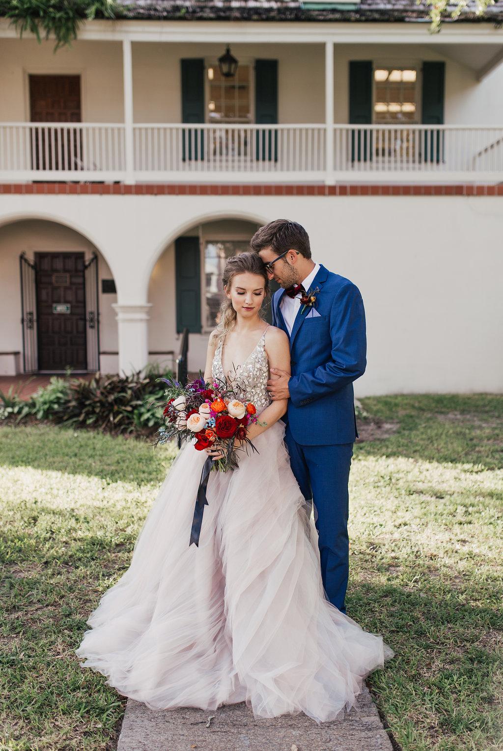 romantic wedding inspiration shoots - photo by Alondra Vega Photography https://ruffledblog.com/jewel-toned-wedding-ideas-with-a-surprise-proposal