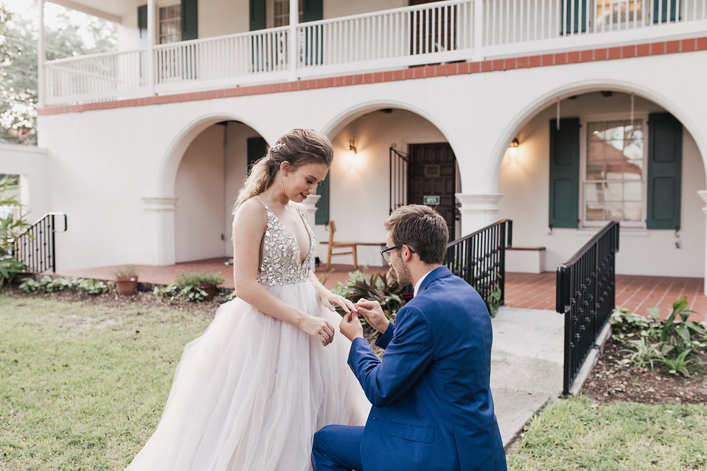 surprise wedding proposals - photo by Alondra Vega Photography https://ruffledblog.com/jewel-toned-wedding-ideas-with-a-surprise-proposal