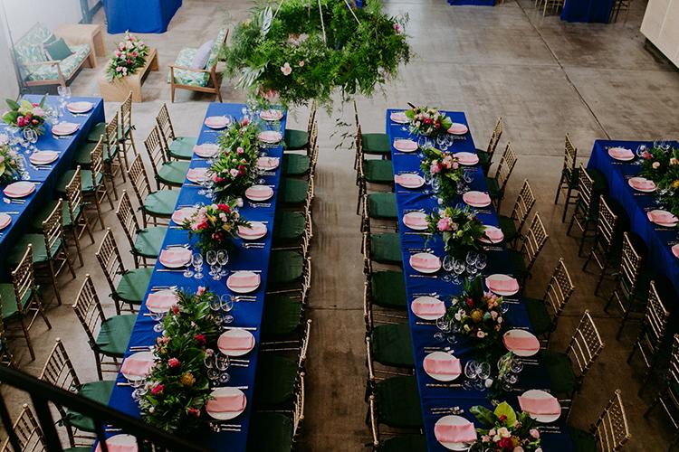 wedding receptions - photo by Amber Gress Photography http://ruffledblog.com/jurassic-park-meets-the-golden-girls-for-this-brooklyn-wedding