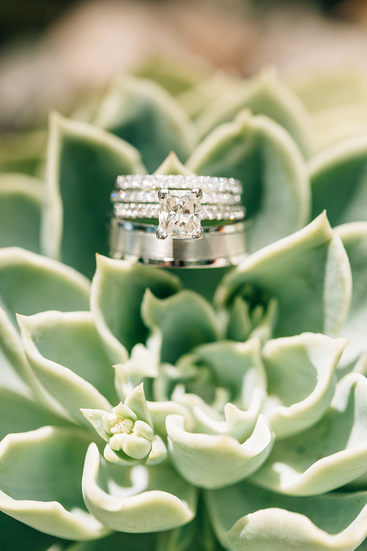 square cut diamond engagement rings - photo by Finding Light Photography https://ruffledblog.com/key-largo-wedding-with-amazing-orchids-and-hydrangea