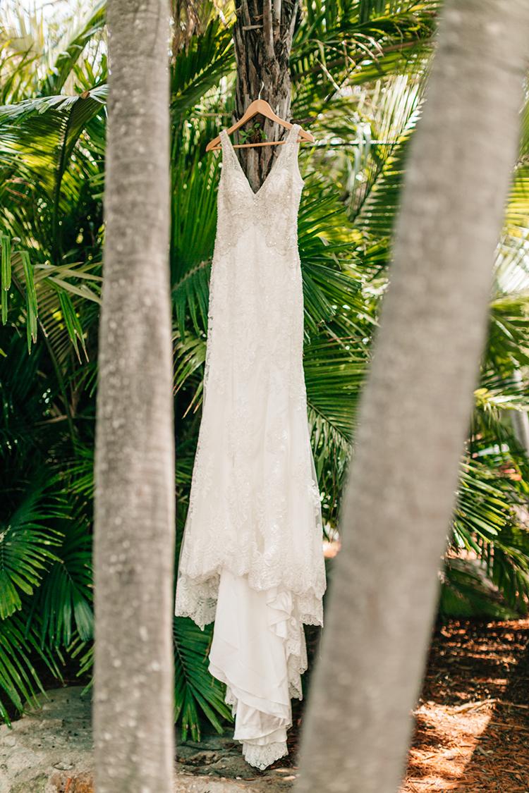 embellished wedding dresses - photo by Finding Light Photography https://ruffledblog.com/key-largo-wedding-with-amazing-orchids-and-hydrangea