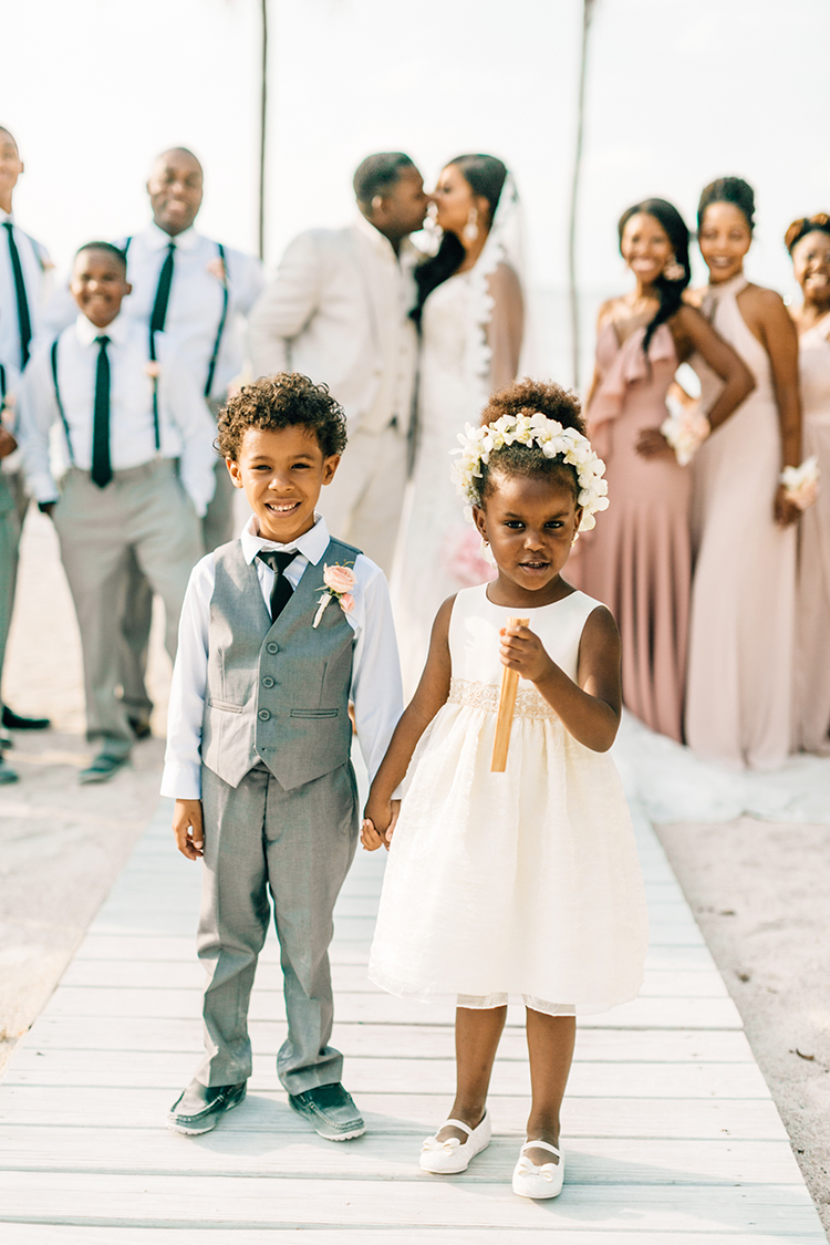 sweet flower girl and ring bearer looks - photo by Finding Light Photography https://ruffledblog.com/key-largo-wedding-with-amazing-orchids-and-hydrangea