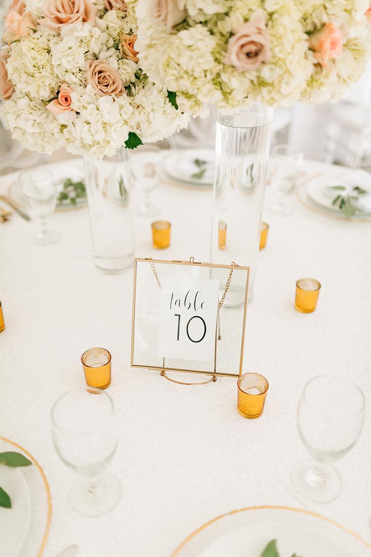 romantic wedding tables - photo by Finding Light Photography https://ruffledblog.com/key-largo-wedding-with-amazing-orchids-and-hydrangea