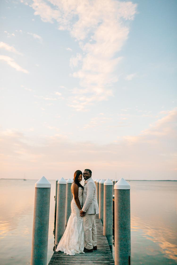 Key Largo destination weddings - photo by Finding Light Photography https://ruffledblog.com/key-largo-wedding-with-amazing-orchids-and-hydrangea