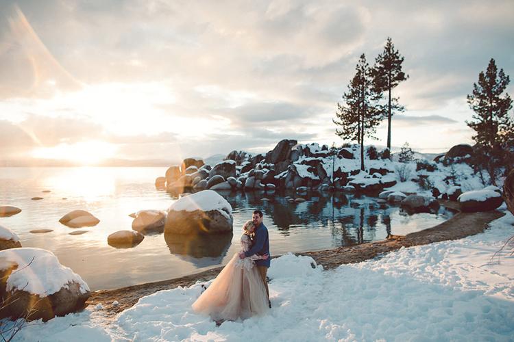 Lake Tahoe Beach Wedding Inspiration - photo by Lilly Red Creative https://ruffledblog.com/lake-tahoe-beach-wedding-inspiration