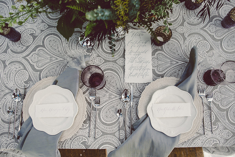 tablescapes - photo by Lilly Red Creative https://ruffledblog.com/lake-tahoe-beach-wedding-inspiration