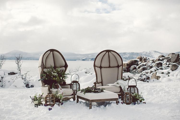 wedding lounge areas - photo by Lilly Red Creative https://ruffledblog.com/lake-tahoe-beach-wedding-inspiration