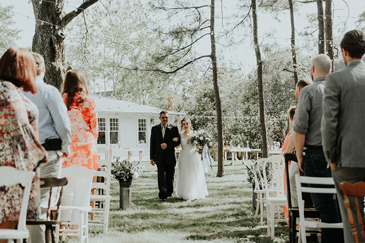 ceremony processionals - https://ruffledblog.com/lovingly-handcrafted-backyard-wedding-with-boho-details