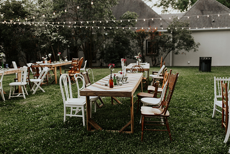 backyard wedding receptions - https://ruffledblog.com/lovingly-handcrafted-backyard-wedding-with-boho-details