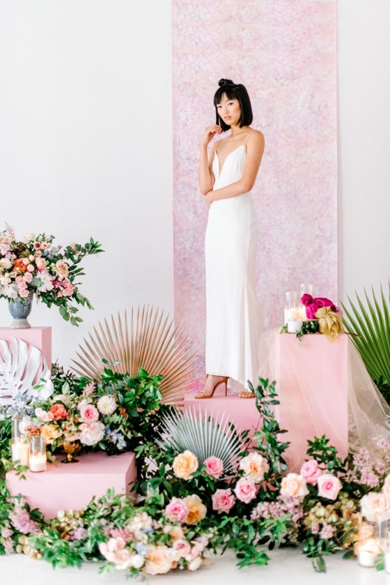Lush Floral Wedding Backdrops with Vivid Colors