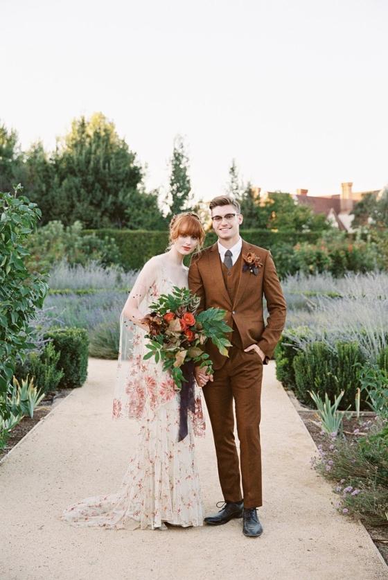 Luxurious Hidden Garden Romance with a Rich, Warm Color Palette