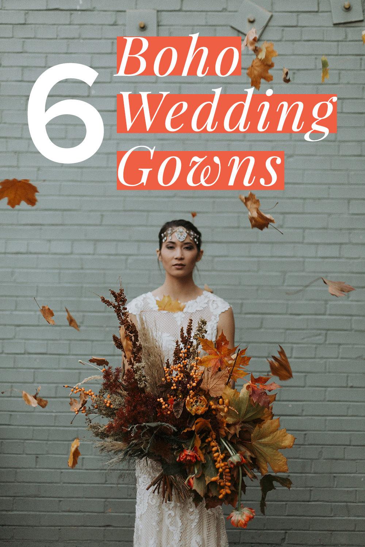 flowy boho wedding dress