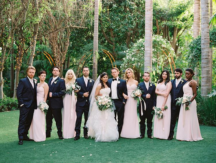 bridal party portraits - photo by Mirelle Carmichael https://ruffledblog.com/magical-midsummer-nights-dream-wedding