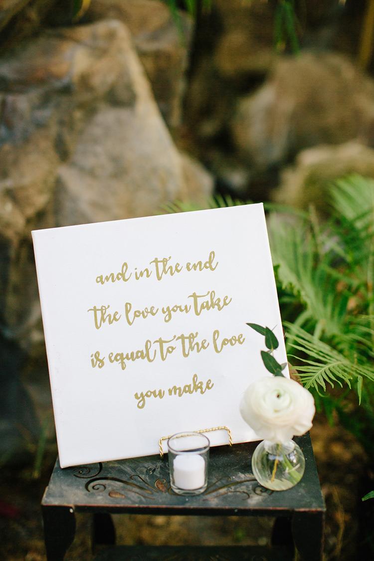 wedding sign ideas - photo by Mirelle Carmichael https://ruffledblog.com/magical-midsummer-nights-dream-wedding