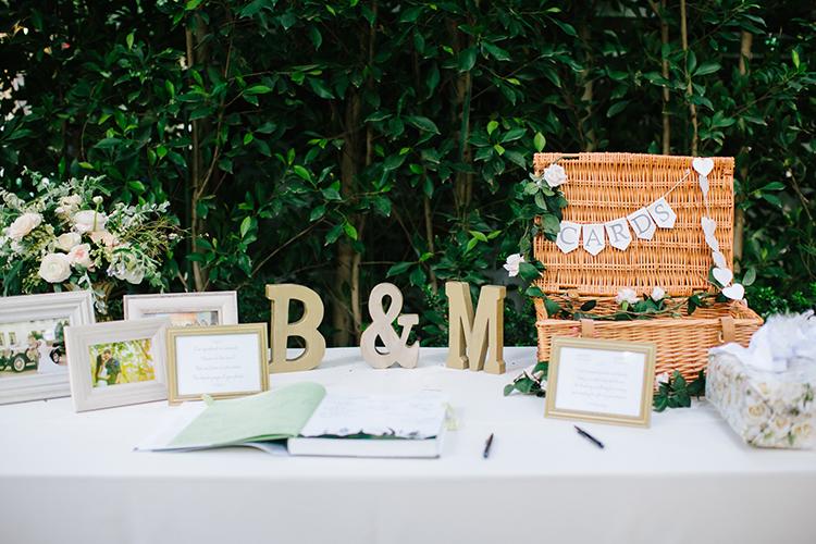 wedding guest books - photo by Mirelle Carmichael https://ruffledblog.com/magical-midsummer-nights-dream-wedding