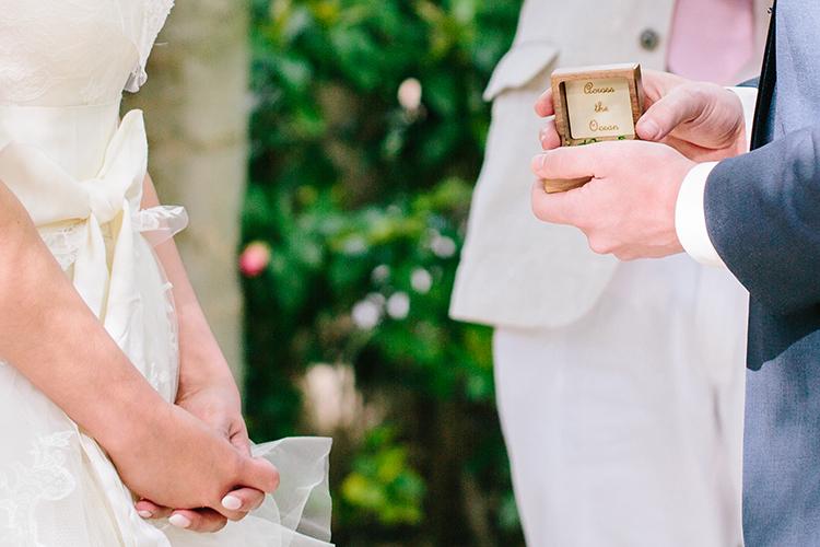wedding ceremony vows - photo by Mirelle Carmichael https://ruffledblog.com/magical-midsummer-nights-dream-wedding