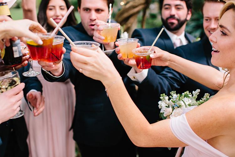 wedding toasts - photo by Mirelle Carmichael https://ruffledblog.com/magical-midsummer-nights-dream-wedding