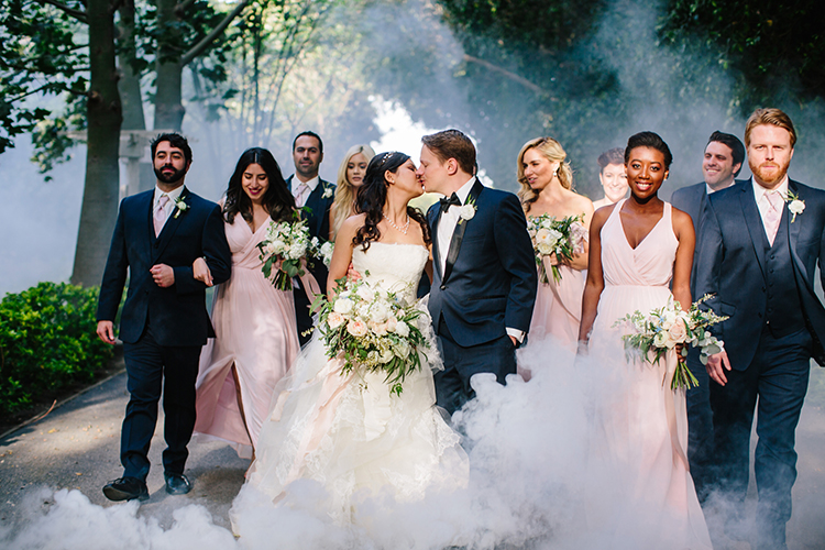 romantic wedding party portraits - photo by Mirelle Carmichael https://ruffledblog.com/magical-midsummer-nights-dream-wedding
