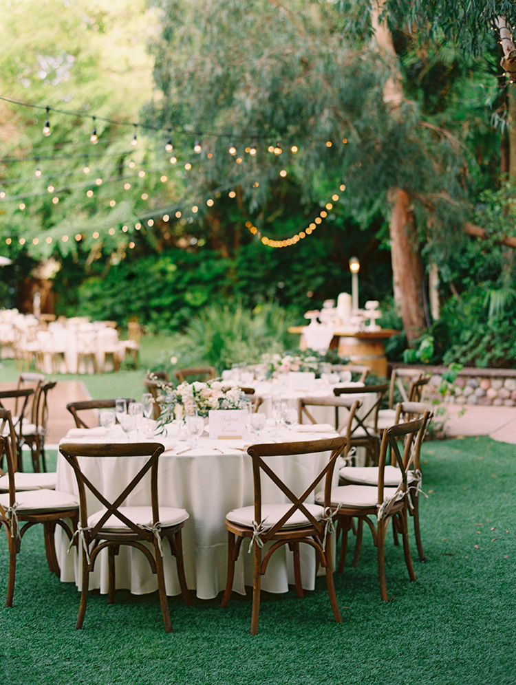 garden wedding receptions - photo by Mirelle Carmichael https://ruffledblog.com/magical-midsummer-nights-dream-wedding