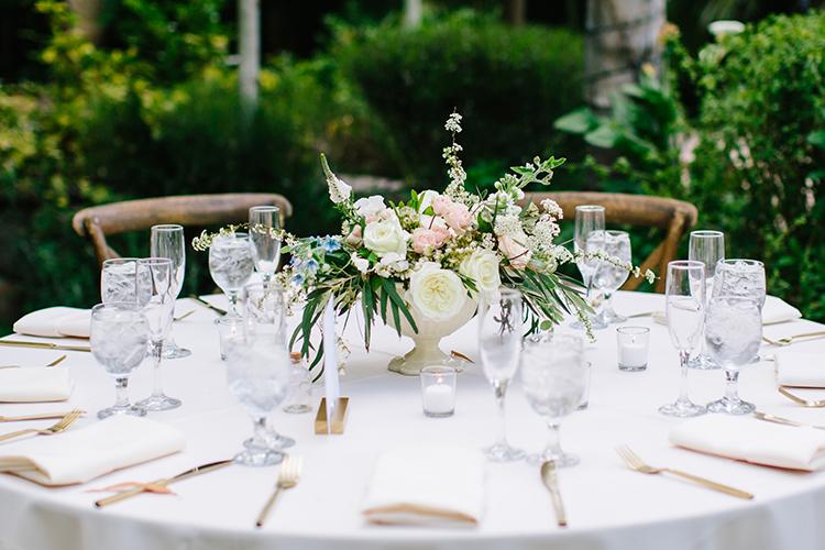 classic wedding tables - photo by Mirelle Carmichael https://ruffledblog.com/magical-midsummer-nights-dream-wedding