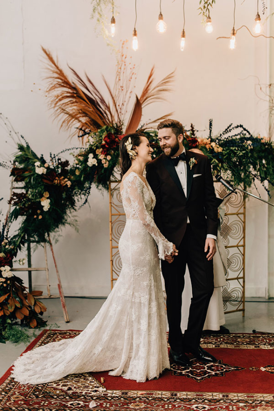 Stunning Copper Wedding with a Whole Lotta Edge