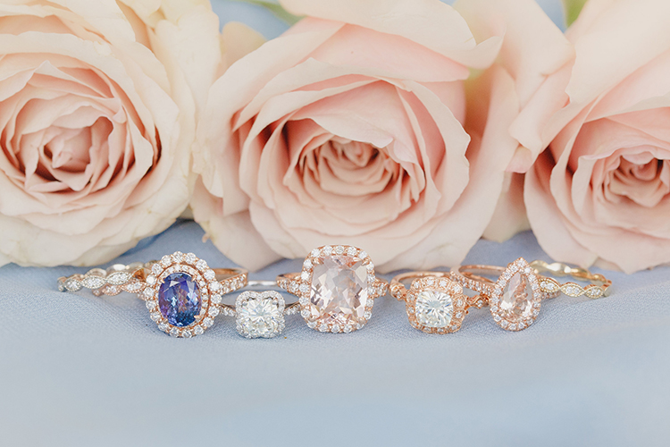 unique engagement rings - photo by Kristen Booth Photographer https://ruffledblog.com/majestic-castle-wedding-inspiration-with-celestial-accents