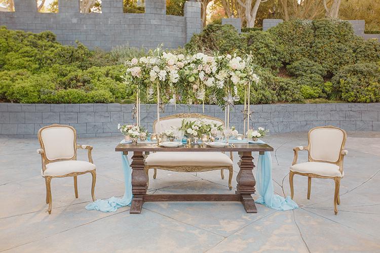 garden romantic weddings - photo by Kristen Booth Photographer http://ruffledblog.com/majestic-castle-wedding-inspiration-with-celestial-accents