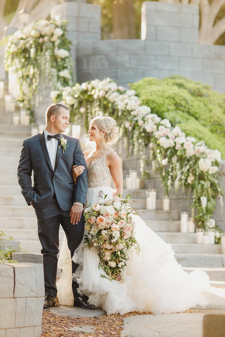 romantic elegant weddings - photo by Kristen Booth Photographer http://ruffledblog.com/majestic-castle-wedding-inspiration-with-celestial-accents
