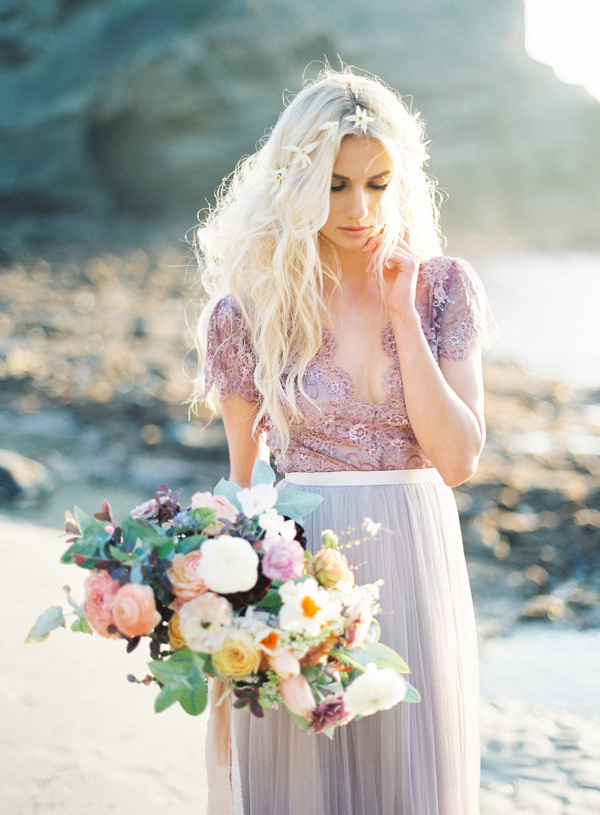 Non white wedding gowns to drool over ruffled non white wedding gowns to drool over view slideshow junglespirit Choice Image