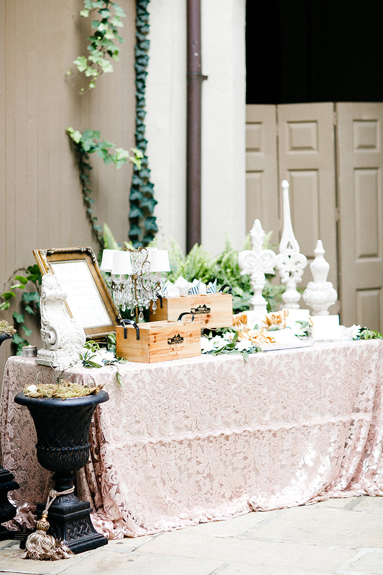 wedding decor ideas - photo by Kaylynn Marie Photography http://ruffledblog.com/midnight-in-paris-inspired-wedding-in-new-orleans