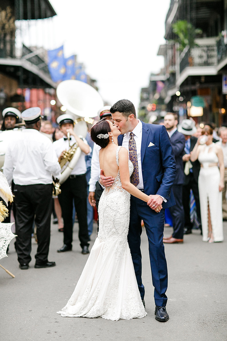 second line weddings - photo by Kaylynn Marie Photography https://ruffledblog.com/midnight-in-paris-inspired-wedding-in-new-orleans