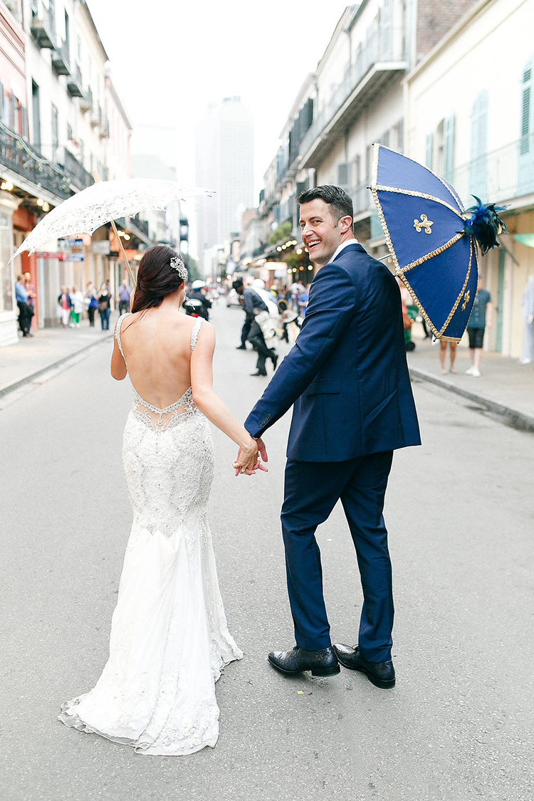 second line weddings in New Orleans - photo by Kaylynn Marie Photography https://ruffledblog.com/midnight-in-paris-inspired-wedding-in-new-orleans