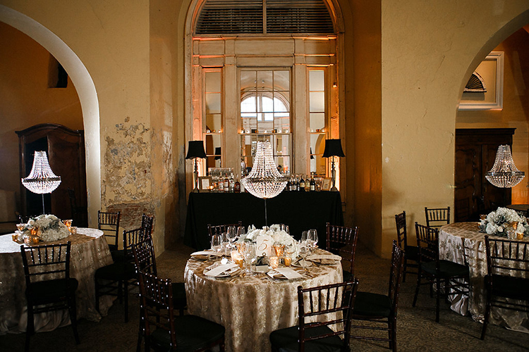 ballroom wedding receptions - photo by Kaylynn Marie Photography http://ruffledblog.com/midnight-in-paris-inspired-wedding-in-new-orleans